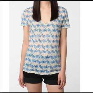 BDG | bicycle print v neck tee urban outfitters